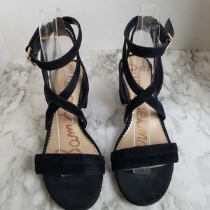 Sam Edelman Strappy Wrap Around Block Heels Size 8